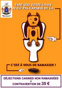 thumbnail of Affiche déjections canines
