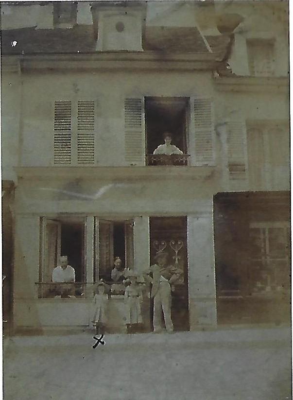 Maison natale de Maurice Cuvillier au début du 20è siècle à Dormans